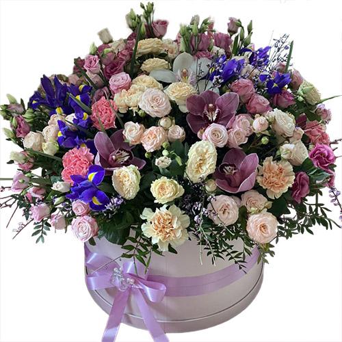 """Шляпная коробка """"Дорогая"""" (XL) микс цветов"""